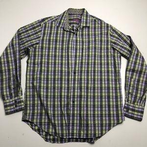 Robert Graham Striped Dress Shirt Medium